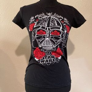 Darth Vader Star Wars black tee t shirt Small